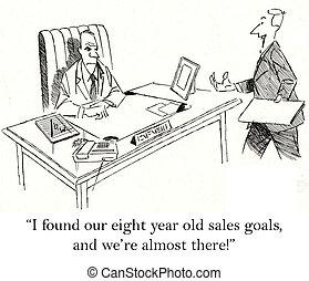 nosotros, golpe, meta, sólo, ventas, viejo, really