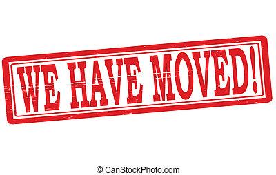 nosotros, movido, tener