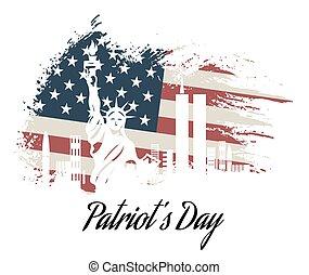 nosotros, olvídese, nunca, patriota, voluntad, día