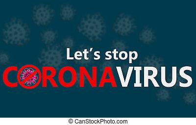 nosotros, parada, corona, dejar, virus