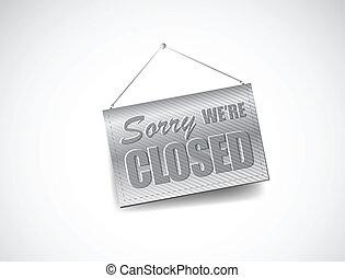 nosotros, ser, cerró signo, -, cerrado, tienda al por menor