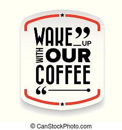 nosso, café, acorde-se