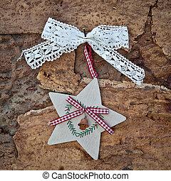 Nostalgic background for christmas - Nostalgic decorations...