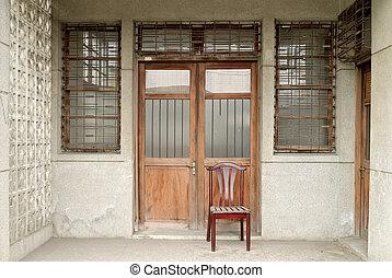 Nostalgic Chinese old building exterior