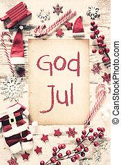nostalgiske, jul, lejlighed, lægge, gud, jul, betyder,...