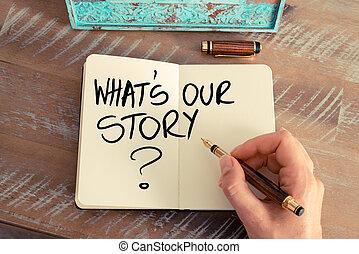 nostro, cosa, domanda, storia, ?