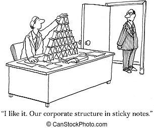 nostro, note, struttura corporativa, appiccicoso