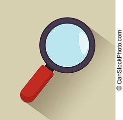 notícia, busca, gráfico, ícone