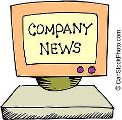 notícia, companhia