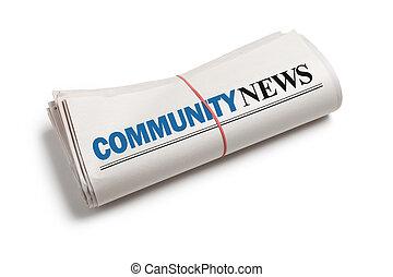 notícia, comunidade