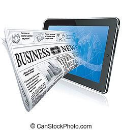 notícia, conceito, -, digital