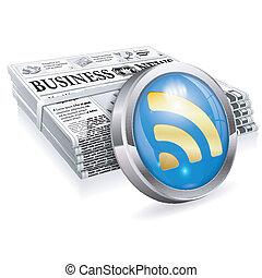 notícia, conceito, digital