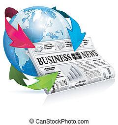 notícia, conceito, -, internet