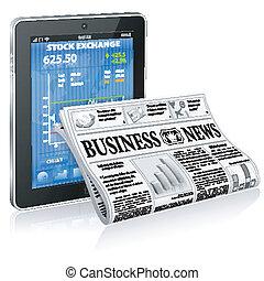 notícia, conceito, negócio