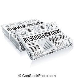 notícia, conceito, -, negócio