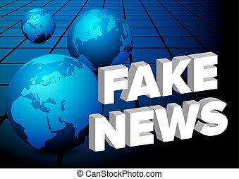 notícia, fraude