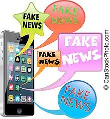 notícia, fraude, esperto, telefone