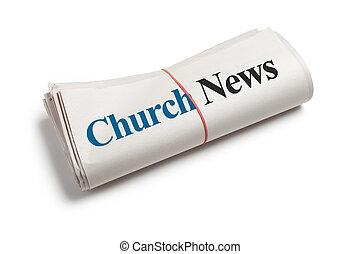 notícia, igreja