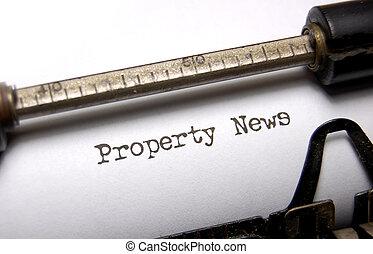 notícia, propriedade