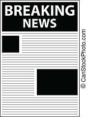 notícia, quebrar