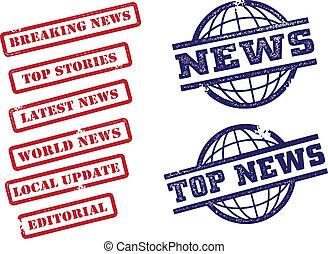 notícia, selos