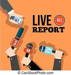 notícia, viver, conceito