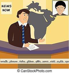 notícias tv, âncora