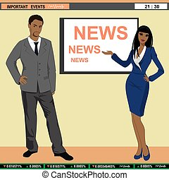 notícias tv, âncoras