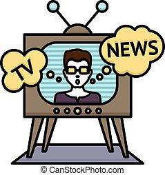 notícias tv, cartaz