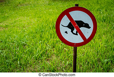 Not allow dog feces sign in the park