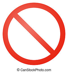 empty not allowed sign - white background