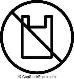 not allowed vector thin line icon