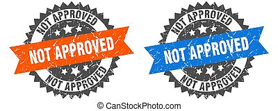 not approved band sign. not approved grunge stamp set
