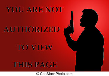 Not Authorized to View Page on Red - Threatening Not...