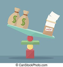 not balanced work with money
