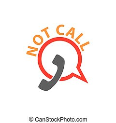 Not call vector icon. Symbol is forbidden to call