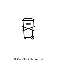 Not for general waste symbol on white background - Not for...