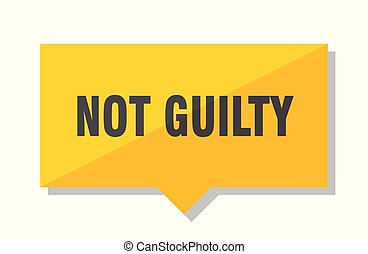 not guilty price tag - not guilty yellow square price tag