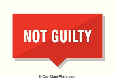 not guilty red tag - not guilty red square price tag