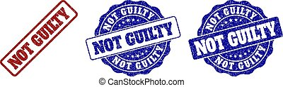 NOT GUILTY Scratched Stamp Seals