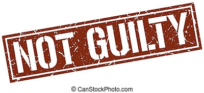not guilty square grunge stamp