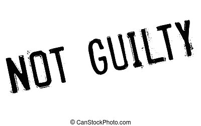 Not guilty stamp