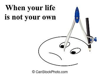 not, leben, eigen, dein