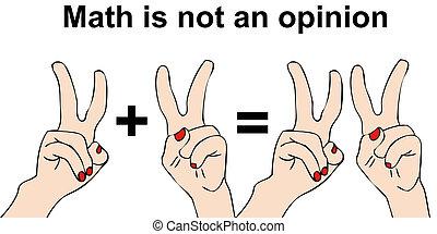 not, meinung, mathe