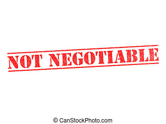 NOT NEGOTIABLE Stamp - NOT NEGOTIABLE rubber stamp over a...