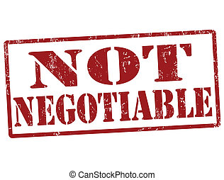 Not negotiable stamp - Not negotiable grunge rubber stamp...