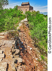 """Not restoration view of Great Wall of China, section """"..."""