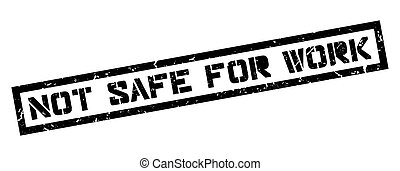 Not safe for work rubber stamp