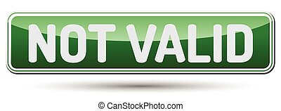 NOT VALID - Abstract beautiful button with text.