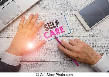 nota, actuación, comodidad, care., consultant., su, sí mismo...
